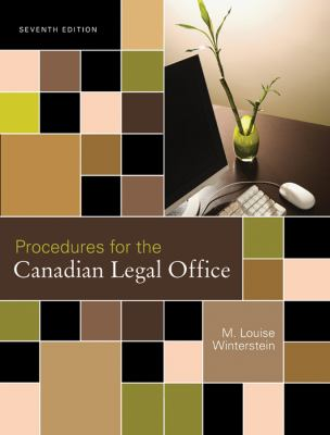 Procedures For The Canadian Legal Office Book Cover