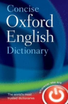 Concise Oxford English Dictionary cover