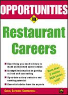 Opportunities In Restaurant Careers Book Cover