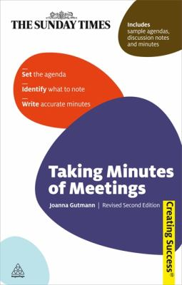 Taking Minutes Of Meetings Book Cover